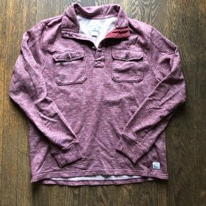 Lucky Brand Pull Over Maroon Sweatshirt